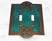 Custom Design Crystallized Switch Plate Cover Bling W/genuine Crystals Blue