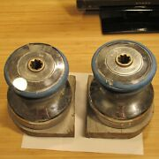 2 Barient Size Model 22 2 Speed Sailboat Winch Drums 5 3/4 Diameter 6 Tall