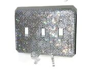 Bling Crystallized Switch Plate Single Double Triple Toggle Crystals