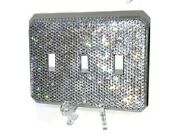 Bling Crystallized Switch Plate Single Double Triple Toggle W/ Crystals