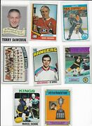 Wow Vintage Hockey Cards - Take A Look - Terry Sawchuck - 8 Card Lot