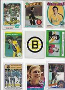 Wow Vintage Hockey Cards - Take A Look - Gerry Pinder - 9 Card Lot