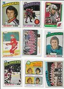 Wow Vintage Hockey Cards - Take A Look - Rod Gilbert - 9 Card Lot