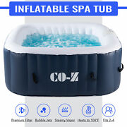5'x5' Inflatable Hot Tub Portable Jacuzzi With 120 Jets And Air Pump Ideal For 4