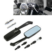 Rectangle Black Motorcycle Rearview Side Mirrors For Harley Davidson Road King