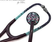 Ombre Master Cardiology Stethoscope W/ Crystal Nurse Bling Crystallized