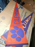 Clemson Tigers Rare Vintage Pennant Ncaa College Football Bowl Champs