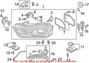 Genuine Oem Front Right Headlight Assembly For Audi 8u0941774b