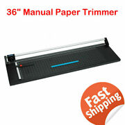 36and039and039 Manual Rotary Paper Cutter Trimmer Photo Paper Film Sharp Cutter - Usa