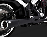 Vance And Hines Pro Pipe Exhaust 2 Into 1 System Black For Harley Fat Boy 2018-19
