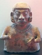 Antique South American Colombian Bust Made Out Of Clay