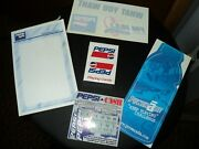 Pepsi Advertising Lot - Playing Cards, Decals, Lottery Ticket, Memo Pad
