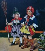 Vintage Halloween Postcard C W Faulkner And Co Ltd Pirate And Witch 1674 London