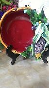 Ceramic Sculpture George Alexander 1992 Chinese Red With Corn Southwest Theme 7