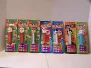Lot Of 7 Carded Pez Dispensers Christmas Santa Claus Witch Snowman Easter Lamb