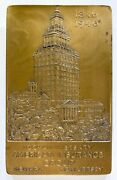 Rare 1946 American Insurance Group Vintage 100th Anniversary Bronze Paperweight