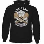Chef Hoodie Culinary Gangster Mens Funny Cook Bbq Masterchef Baker Skull Hat
