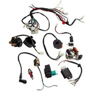 Wire Harness Stator Assembly Wiring Kit For 50cc 70cc 90cc Electric Quad Atv