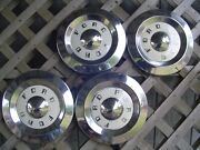 4 Vintage Antique Ford 57 58 59 Fairlane Thunderbird T Bird Hubcaps Center Caps