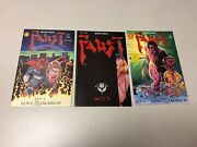 Lot Of Three Faust 1, 2 And 4 All Three 1st Prints Signed By Tim Vigil