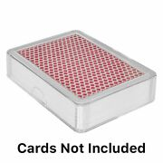 10 Clear Playing Card Deck Protector Coin Storage Box Poker Id Badge Case Holder