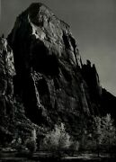 1950 Ansel Adams The Great White Throne Zion National Park Art Photo Gravure