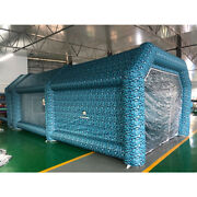 Flapkwan Paint Tent Inflatable Spray Booth Blue Camouflage Nets