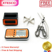 Wireless Lcd Remote 2 Probe Meat Thermometer Set For Bbq Smoker Grill Oven Top