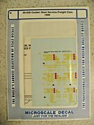 Microscale Decal N Scale 60-658 Golden West Service Freight Cars 1990