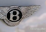 Emblem For Bentley W/ Genuine Crystals Car Badge Bling Crystallized Bedazzled