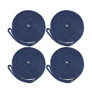 4 Pack 1/2 Inch 20ft Double Braid Nylon Dock Line Mooring Rope Boat Dock Rope Us