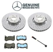 Genuine Front Brake Kit Rotors Pads And Sensor For Mercedes W212 S212 W218
