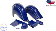 Fit For Indian Chief Front And Rear Blue Fender Mudguards + Chain Guard Post War  