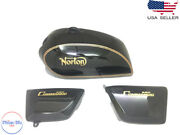 Norton Commando Interstate Black With Side Panels  fit For
