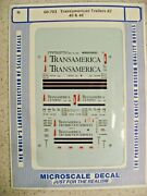Microscale Decal N Scale 60-703 Transamerican Trailers 2 45' And 48'