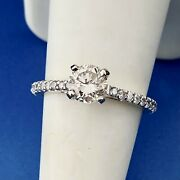 Designer 14k Yellow Gold Round Diamond Solitaire Accented Engagement Ring
