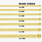 10k Gold Miami Cuban Link Chain Necklace Menand039s/womenand039s 5.5mm- 9.5mm 20-30