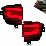 Red Led Taillights Replacement Left+right Pair For 2016-2019 Toyota Land Cruiser