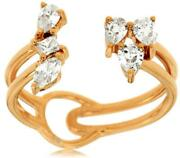Estate Wide .66ct Diamond 14kt Rose Gold 3d Multi Shape Handcrafted Ring