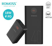 Romoss 18w Pd Qc Power Bank Usb-c Portable Charger For Iphone 12/11/x/xs Samsung