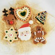 Clay Christmas Cookies Magnet Fridge Home 3d Clay Handmade Collectible Gifts