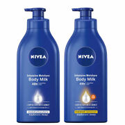Nivea Body Milk Lotion Spf15 Deep Moisture For Dry Skin Woman Men Smoother 48h