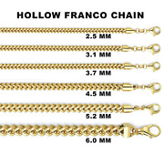 10k Gold Franco Chain Necklace Menand039s/womenand039s 2.5mm- 6.0mm 20-30