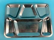 Lot Of 10 Vintage Stainless Steel Cafeteria Food Trays 6 Section|010-4122158