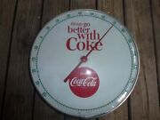 12' Round Things Go Better With Coke Coca-cola Thermometer 1960s