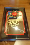 Rare Vintage Miller Beer Mirror Sign Display Advertising Antique