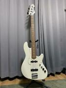 Atelier Z 25th Anniversary White Japan Electric Bass Guitar S/n 206415 With Case