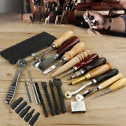 Usa Leather Craft Tools Punch Kit Stitching Carving Sewing Working Skiving Knife