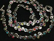 2pc Patricia Locke 20 Necklace And 7 1/2 Bracelet Silver Crystal Nwot