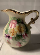Lefton Small Rose Pitcher- Excellent Condition - Beautiful - Sl7642 Vintage